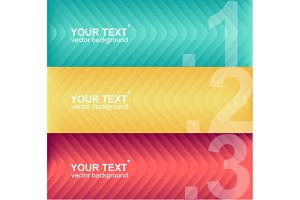 Vector colorful text boxes