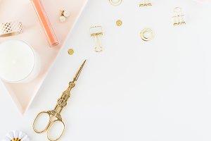 Styled Stock - Blush + Gold Flatlay