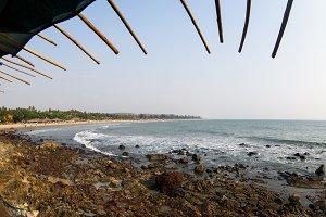 Beauty beach landscape goa india