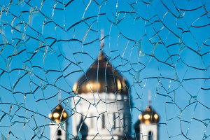 Golden dome on top of the orthodox