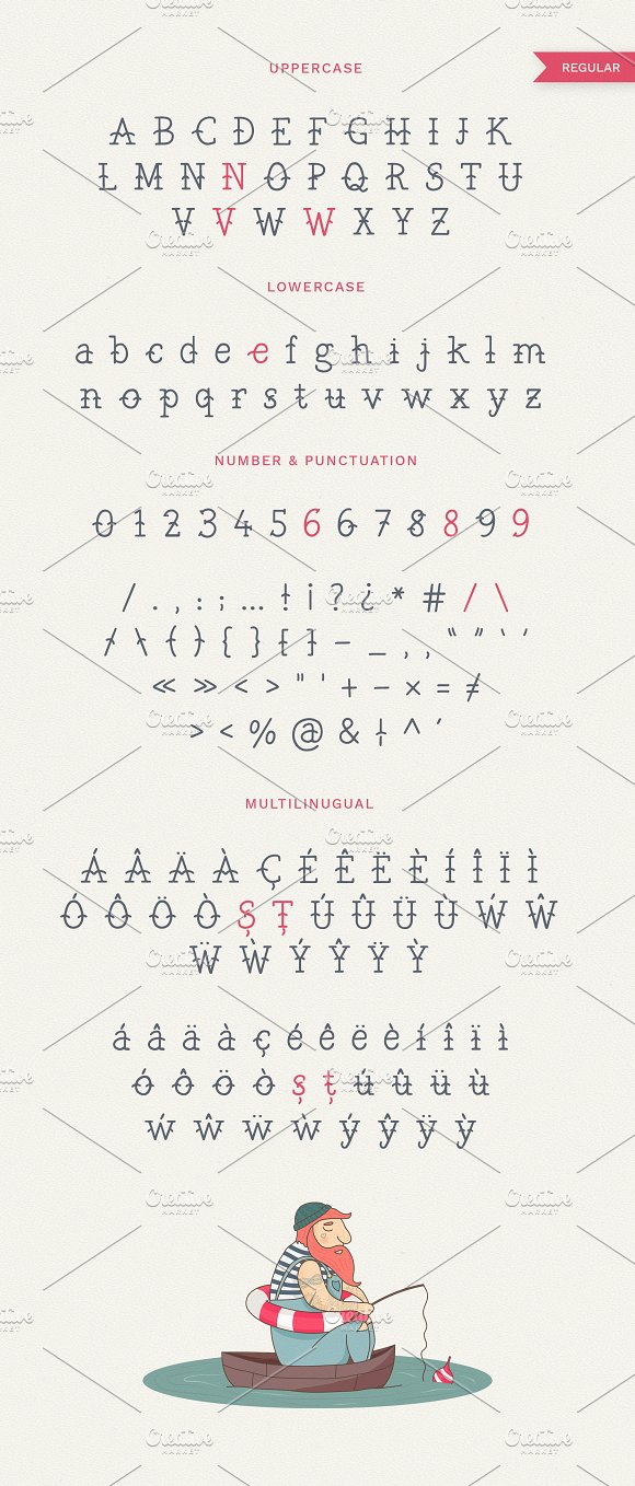 The Bearded Sailor - Tattoo Font in Display Fonts - product preview 2