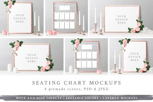 Wedding Seating Chart Mockups