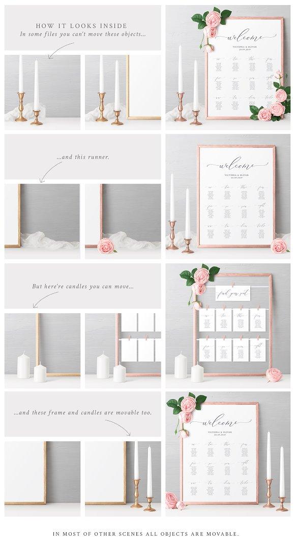 Wedding Seating Chart Mockups ~ Product Mockups ~ Creative Market