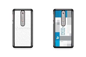 Nokia 6.1 2d PC Colored Case Mockup