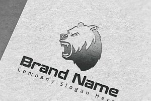 Modern Bear Logo - Mock-Up & Vector