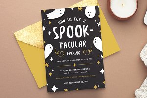 halloween party invitation invitation templates creative market