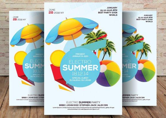 summer pool party flyer flyer templates creative market