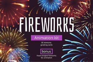 Fireworks animation kit
