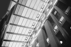 Transparent roof of a modern