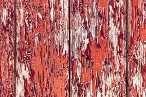 Grunge red wood panels