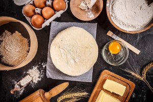 Dough preparation recipe ingridients