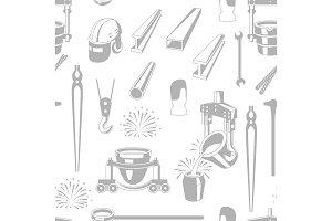Metallurgical seamless pattern.
