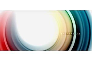 Rainbow fluid abstract swirl shape