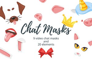Video chat masks