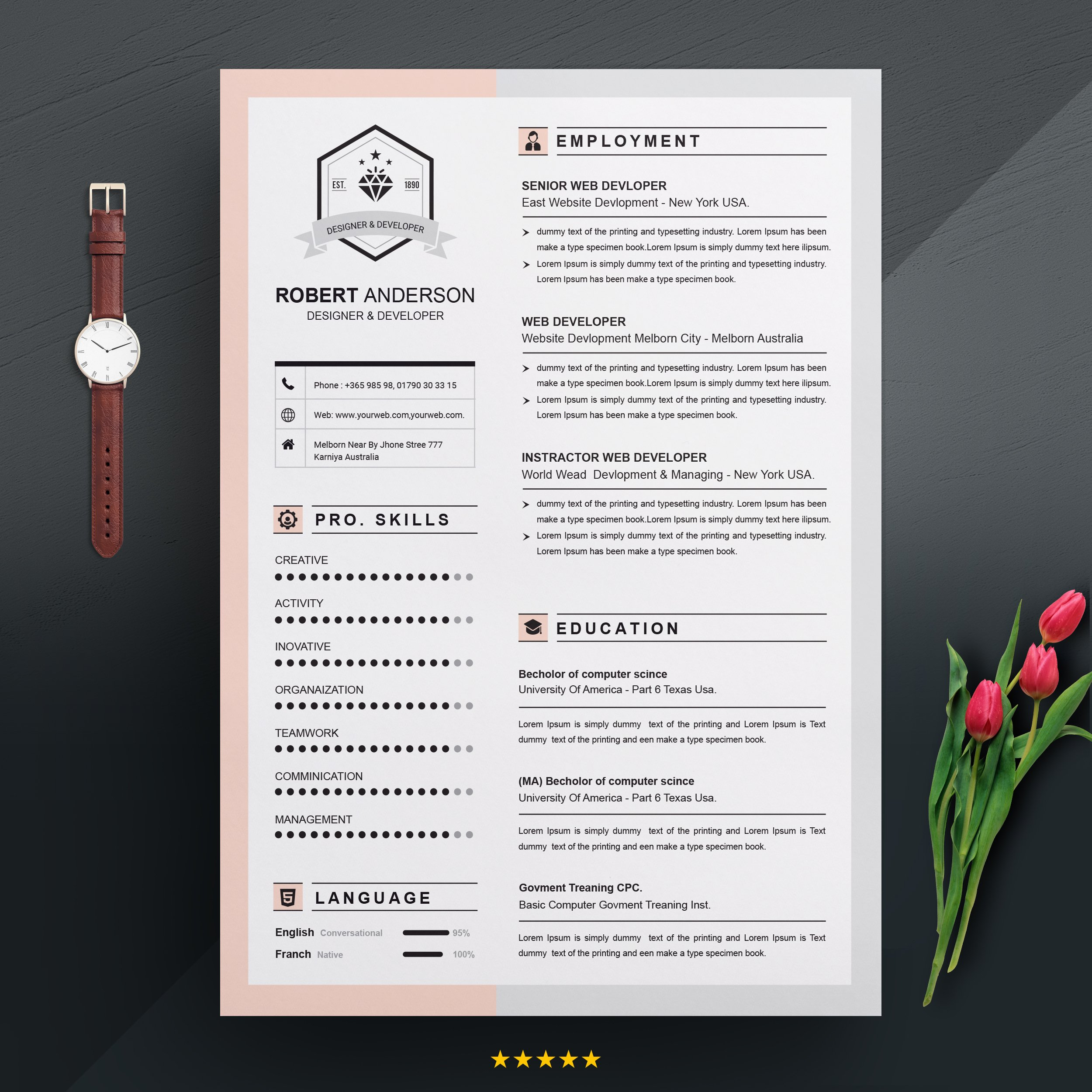 Resume Template | Apple Pages ~ Resume Templates ~ Creative ...