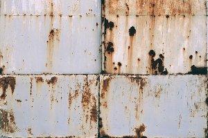 Old grunge metal rusty doors.