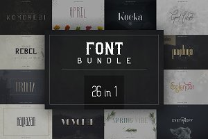 26in1 Legendary Font Bundle -91% OFF