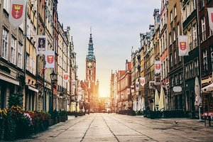 Old Town in Gdansk, Poland - Dluga S
