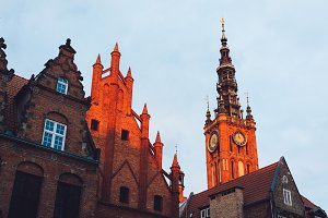 Old Town buildings in Gdansk during