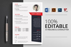 CV Resume & Coverletter Word