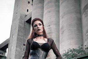 Beautiful goth (deathrock) girl