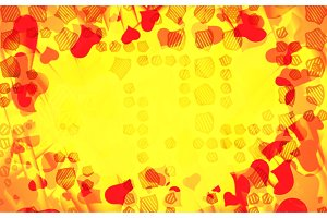Abstract love background full of