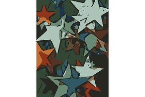 Abstract background full of stars