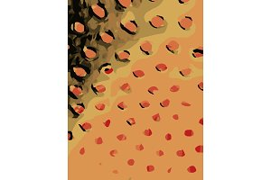 Abstract background full of round