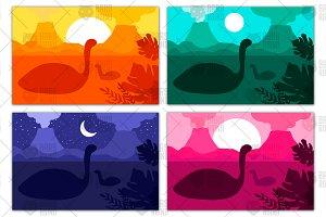 Swimming Dinosaurs In Ocean