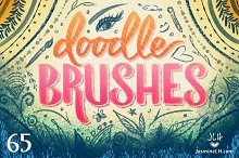 Doodle Brushes Set for Photoshop by  in Brushes