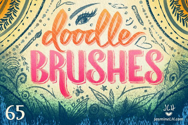 Photoshop Brushes: Jasmine Lové - Doodle Brushes for Photoshop