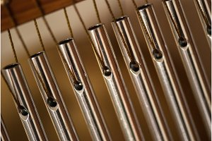 bar chimes with steel tubes for