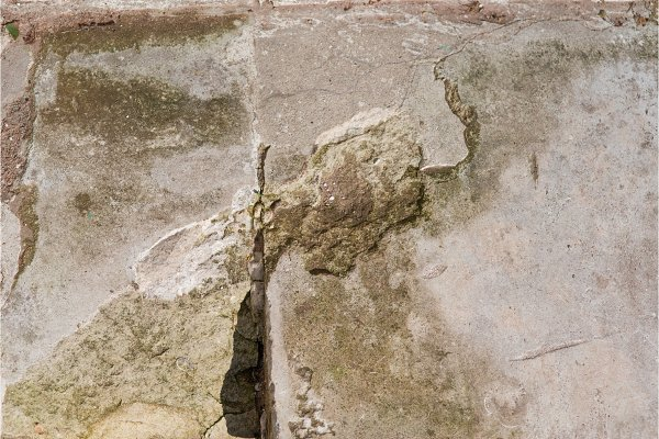 the stone background with cracks