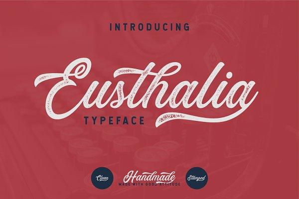 Fonts: YdhraStudio - Eusthalia Typeface (INTRO SALE 40%)