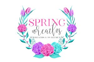 Spring Wreaths + 30 Elements