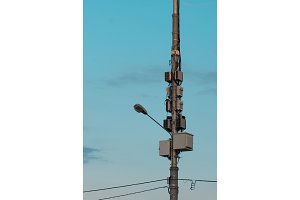 lighting and electrical pole with