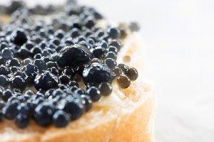 Expensive delicious black caviar