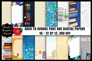 Back to School Pt 1 Digital Papers