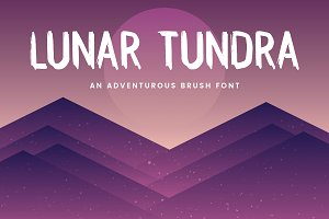 Lunar Tundra Brush Font