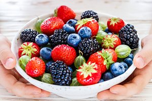 Fresh juicy ripe berries