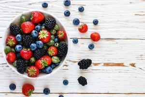Fresh juicy ripe berries