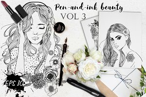 Pen-and-ink Beauty. VOL3