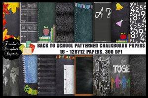 Back to School Chalkboard Papers