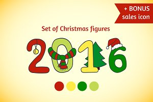 Set of Christmas figures+BONUS