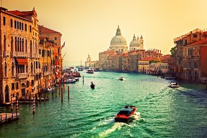 Venice, Italy. Grand Canal. Vintage