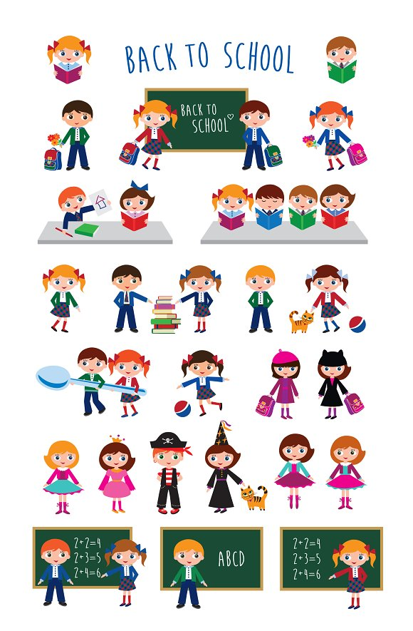 Back to school set in Illustrations - product preview 1