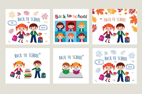 Back to school set in Illustrations - product preview 2