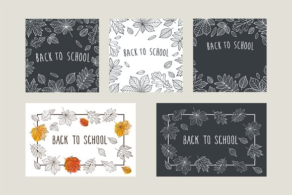 Back to school set in Illustrations - product preview 3