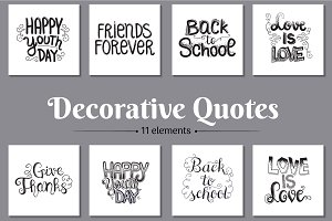 Decorative Quotes