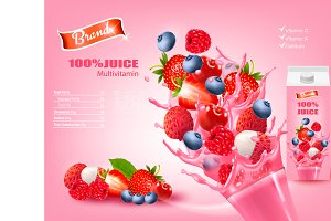 Fresh Juice with Exotic Fruits Ad